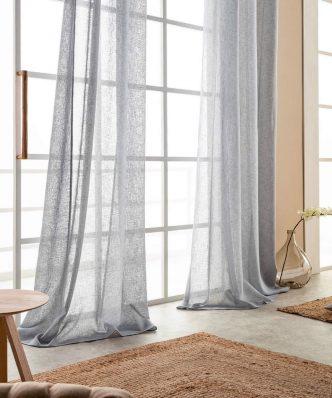 Κουρτίνα με τρουκς Combe 502/15 της GOFIS Home (140x260) ΓΚΡΙ