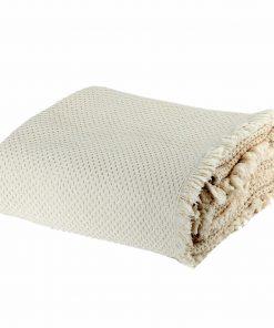 Καλοκαιρινή Κουβέρτα Υπέρδιπλη BENATIA της NEF-NEF (230x250) ECRU