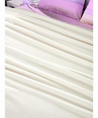 Fleece Κουβέρτα Μονή Ultrasoft ROMBUS ECRU (160x220) της Guy Laroche