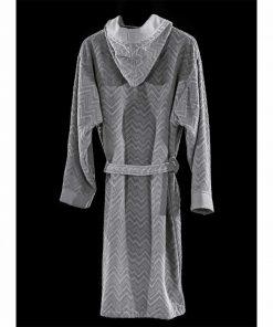 Μπουρνούζι με κουκούλα PALACIO της Guy Laroche - SILVER (XL)