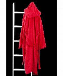 Μπουρνούζι με Κουκούλα DAILY της Guy Laroche - RED (XL)