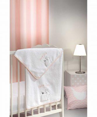 Σετ Βρεφικές (bebe) Πετσέτες (2τμχ) LAPIN της Saint Clair PINK