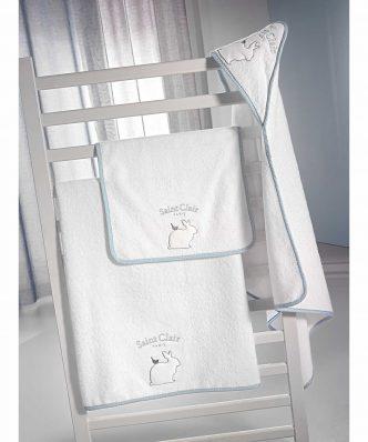 Σετ Βρεφικές (bebe) Πετσέτες (2τμχ) LAPIN της Saint Clair BLUE