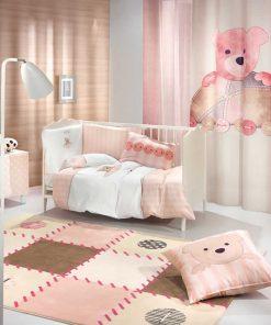 Βρεφικό (bebe) Σετ Κούνιας (5τμχ) TEDDY της Saint Clair ROSE