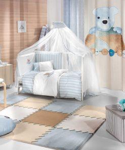 Βρεφικό (bebe) Σετ Κούνιας (6τμχ) TEDDY της Saint Clair SKY