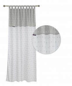 Βαμβακοσατέν Παιδική Κουρτίνα με Θηλιές Essential 2903 της POLO CLUB (140x260) ΛΕΥΚΟ/ΓΚΡΙ