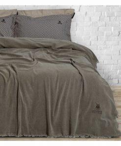 Premium 2417 ΜΠΕΖ Καλοκαιρινή Κουβέρτα Υπέρδιπλη της POLO CLUB