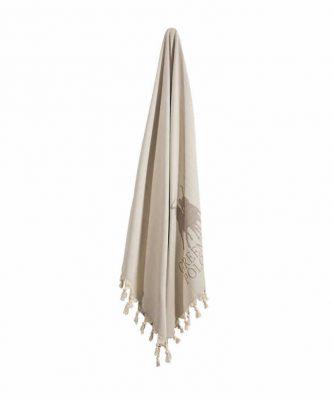 Πετσέτα-Παρεό Θαλάσσης Essential 2843 της POLO CLUB (90x170) ΕΚΡΟΥ