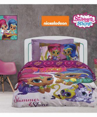 Σετ Παιδική Παπλωματοθήκη Μονή Cartoon Line SHIMMER & SHINE 5001 της Das Home/NICKELODEON
