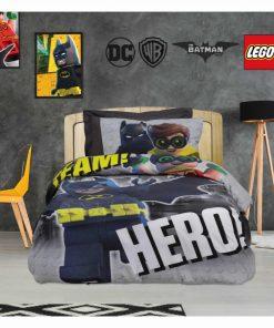 Σετ Παιδική Παπλωματοθήκη Μονή Cartoon Line LEGO BATMAN 5004 της Das Home