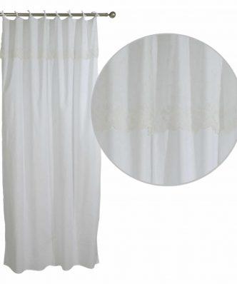 Κουρτίνα με θηλιές (140x260) Curtain Line 2143 της Das Home