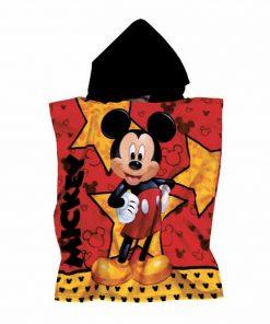Παιδικό Πόντσο Θαλάσσης Mickey 5826 της Das Home/DISNEY (55x115) ΚΟΚΚΙΝΟ/ΚΙΤΡΙΝΟ