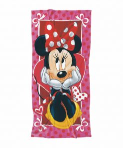 Παιδική Πετσέτα Θαλάσσης Minnie 5815 της Das Home/DISNEY (70x140) ΚΟΚΚΙΝΟ/ΡΟΖ