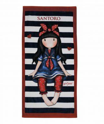 Παιδική Πετσέτα Θαλάσσης SANTORO 5810 της Das Home (75x150) ΜΑΥΡΟ/ΚΟΚΚΙΝΟ