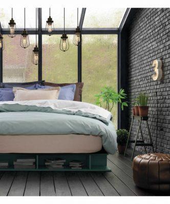 Ζευγάρι Μαξιλαροθήκες σε ραφή Oxford Best Line 1007 της Das Home