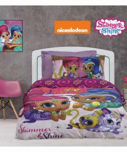 Σετ Παιδικά Σεντόνια Μονά Cartoon Line SHIMMER & SHINE 5001 της Das Home/NICKELODEON