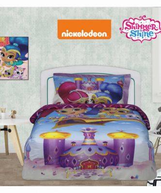 Σετ Παιδικά Σεντόνια Μονά Cartoon Line SHIMMER & SHINE 5002 της Das Home/NICKELODEON