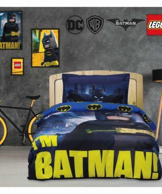 Σετ Παιδικό Κουβερλί Μονό (160x240) Cartoon Line LEGO BATMAN 5003 της Das Home