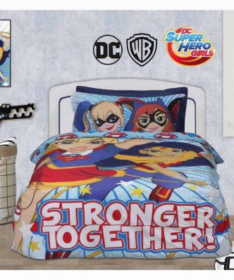 Σετ Παιδικά Σεντόνια Μονά Cartoon Line Super HERO GIRLS 5005 της Das Home