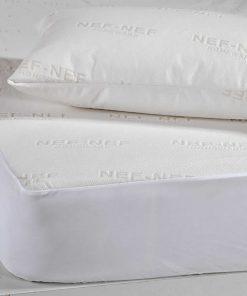 Σετ Αδιάβροχο Ζακάρ Προστατευτικό Κάλυμμα Μαξιλαριού της Nef-Nef