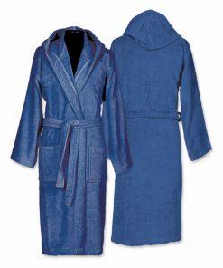 Μπουρνούζι με κουκούλα COMFORT ROYAL BLUE της NEF-NEF