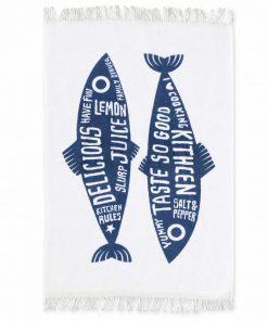 Ποτηρόπανο TRENDY FISH της NEF-NEF (40x60) BLUE