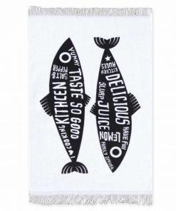Ποτηρόπανο TRENDY FISH της NEF-NEF (40x60) BLACK