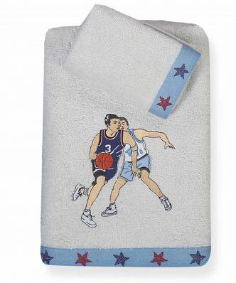 Σετ Παιδικές Πετσέτες (2τμχ) BASKETBALL της NEF-NEF