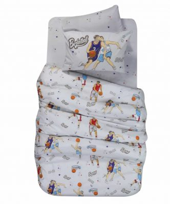 Βαμβακερό Παιδικό Κουβερλί Μονό BASKETBALL της NEF-NEF (160x240)