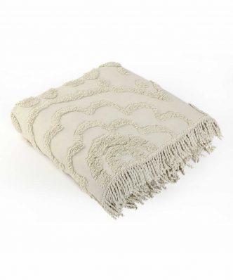 Βαμβακερή Κουβέρτα Υπέρδιπλη SIENA της NEF-NEF (230x240) BEIGE