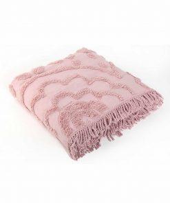 Βαμβακερή Κουβέρτα Υπέρδιπλη SIENA της NEF-NEF (230x240) PINK