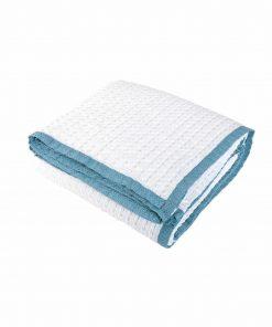 Κουβέρτα Πικέ Υπέρδιπλη Blue MARGO της NEF-NEF (230x240) NATURAL