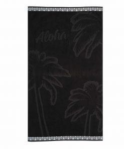 Βελουτέ Πετσέτα Θαλάσσης ALOHA της NEF-NEF (80x160) BLACK