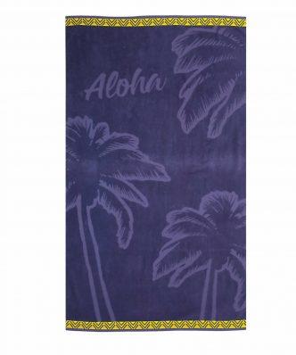 Βελουτέ Πετσέτα Θαλάσσης ALOHA της NEF-NEF (80x160) PURPLE