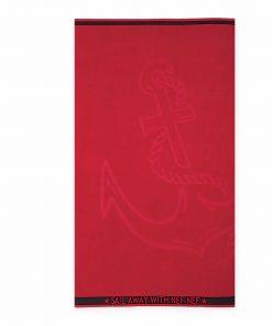 Βελουτέ Πετσέτα Θαλάσσης ANCHOR της NEF-NEF (80x160) RED