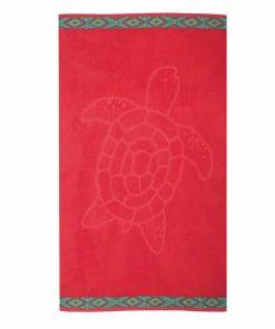 Πετσέτα Θαλάσσης TURTLE της NEF-NEF (70x120) RED