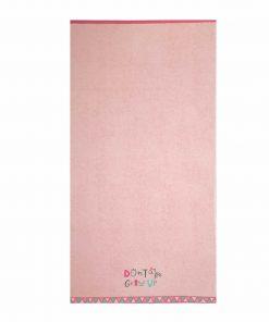 Παιδική Πετσέτα Θαλάσσης DON'T GROW UP της NEF-NEF (70x130) PINK
