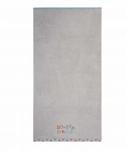 Παιδική Πετσέτα Θαλάσσης DON'T GROW UP της NEF-NEF (70x130) GREY