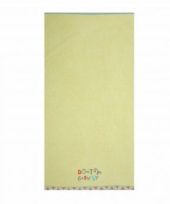 Παιδική Πετσέτα Θαλάσσης DON'T GROW UP της NEF-NEF (70x130) GREEN
