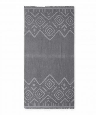 Βελουτέ Πετσέτα Θαλάσσης TRUE EMBOSSED της NEF-NEF (80x160) GREY