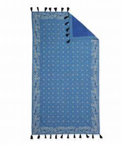 Πετσέτα Θαλάσσης - Παρεό BANDANA της NEF-NEF (90x170) BLUE