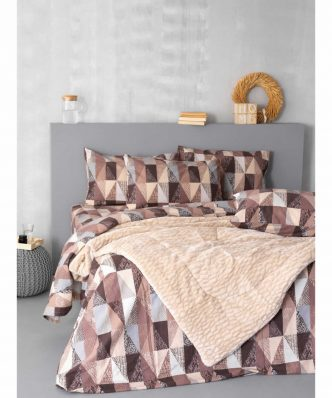 Σετ Φανελένια Σεντόνια Ημίδιπλα (170x265) Fitted (Μ.Λ.) Flannel Beauty FB0205 της Palamaiki