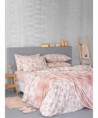 Σετ Φανελένια Σεντόνια Ημίδιπλα (170x265) Flannel Beauty FB0206 της Palamaiki