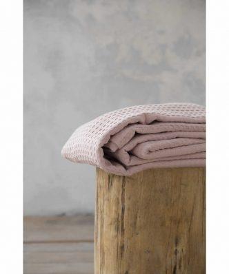 Πικέ Κουβέρτα Υπέρδιπλη HABIT της NIMA HOME (220x240) PEACH