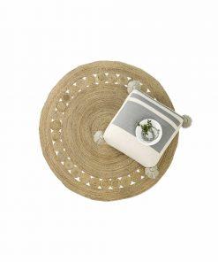 Στρογγυλό Χαλί (Δ:150) MAKRAME NATURAL της NIMA HOME