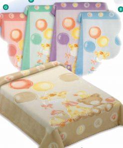 Βρεφική Βελουτέ Κουβέρτα Αγκαλιάς BELPLA Dralon 546 Ισπανίας (5 χρώματα)