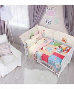 Σετ Βρεφικό Κουβερλί Κούνιας (bebe) Dream Line 6511 της Das Home (110x150) ΡΟΖ