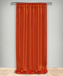Κουρτίνα με Τρέσα (145x265) ΤΑ02/43 ΠΟΡΤΟΚΑΛΙ της Maison Blanche