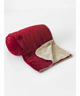 Fleece Κουβέρτα Μονή 2 Όψεων ABBRACIO CHERRY της Sb Home