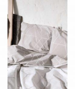 Σετ Περκάλι Σεντόνια Διπλά ASYMMETRY της NIMA HOME (200x260) BEIGE